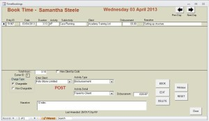 Booking Form showing Disbursement