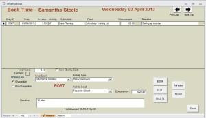 Booking Form showing Disbursement