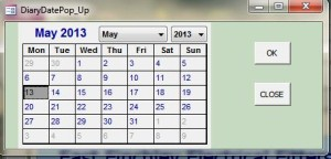 Calendar to select the date required.